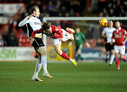 Bristol City's Luke Freeman is fouled by Port Vale's Chris Lines  - Photo mandatory by-line: Joe Meredith/JMP - Mobile: 07966 386802 - 10/02/2015 - SPORT - Football - Bristol - Ashton Gate - Bristol City v Port Vale - Sky Bet League One