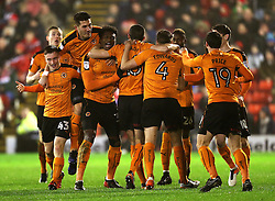 Kortney Hause of Wolverhampton Wanderers celebrates after scoring his sides first goal - Mandatory by-line: Matt McNulty/JMP - 31/01/2017 - FOOTBALL - Oakwell Stadium - Barnsley, England - Barnsley v Wolverhampton Wanderers - Sky Bet Championship