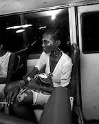 Fela Kuti's Wives on the tour bus - Lagos