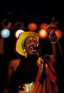 Rita Marley, wife of the late Reggae superstar Bob Marley, performs at the Reggae Sunsplash festival in July 1991, in Montego Bay, Jamaica. Bob Marley died of cancer in a Miami hospital at the age of 36 on May 11, 1981. (Photo by Roger M. Richards)