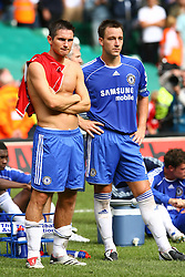 CARDIFF, WALES - SUNDAY, AUGUST 13th, 2006: Chelsea's John Terry and Frank Lampard look dejected after losing 2-1to Liverpool during the Community Shield match at the Millennium Stadium. (Pic by David Rawcliffe/Propaganda)