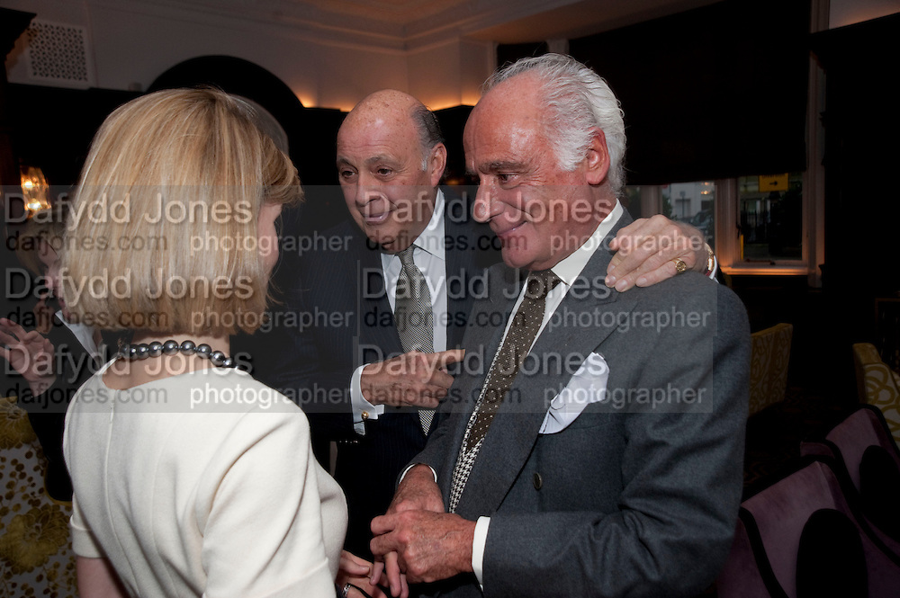 ANNA CARTER; REINALDO HERRERA; JOHN STEFANIDES, Graydon and Anna Carter host a lunch for Carolina Herrera to celebrate the ipening of her new shop on Mount St. .The Connaught. London. 20 January 2010ANNA CARTER;