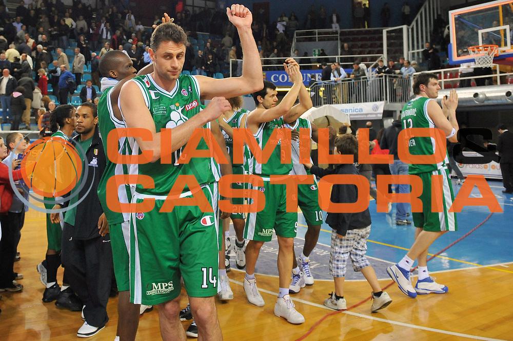 DESCRIZIONE : Rieti Lega A 2008-09 Solsonica Rieti Montepaschi Siena<br /> GIOCATORE : Tomas Ress<br /> SQUADRA : Montepaschi Siena<br /> EVENTO : Campionato Lega A 2008-2009<br /> GARA : Solsonica Rieti Montepaschi Siena<br /> DATA : 05/04/2009<br /> CATEGORIA : Esultanza<br /> SPORT : Pallacanestro<br /> AUTORE : Agenzia Ciamillo-Castoria/E.Grillotti