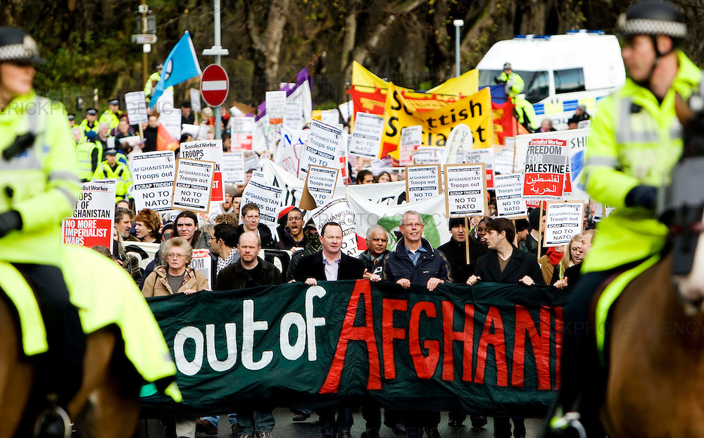 Stop the war protesters march through Edinburgh as the annual Nato parliamentary assembly takes place in Edinburgh today...Picture Michael Hughes/Maverick.......