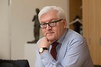 15 JAN 2013, BERLIN/GERMANY:<br /> Frank-Walter Steinmeier, SPD Fraktionsvorsitzender, waehrend einem Interview, in seinem Buero, Jakob-Kaiser-Haus, Deutscher Budnestag<br /> IMAGE: 20130115-01-019<br /> KEYWORDS: B&uuml;ro