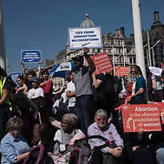 Pro-Life rally against abortions at Parliament Square, London, UK