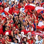 EAST RUTHERFORD, NEW JERSEY - JUNE 26:  Chilean fans in the crowd during the Argentina Vs Chile Final match of the Copa America Centenario USA 2016 Tournament at MetLife Stadium on June 26, 2016 in East Rutherford, New Jersey. (Photo by Tim Clayton/Corbis via Getty Images)