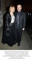 Actress ANGHARAD REES and DAVID McALPINE at a reception in London on 23rd March 2004. PSR 101