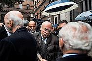 Roma 5 Novembre 2012.Il  funerale di Pino Rauti.Francesco Storace,La Destra.