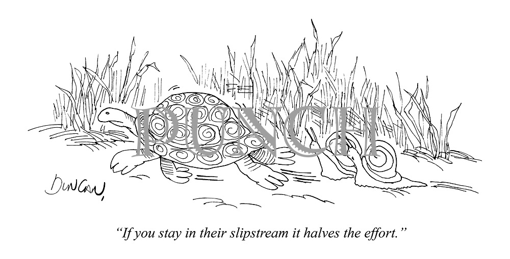 """If you stay in their slipstream it halves the effort."""