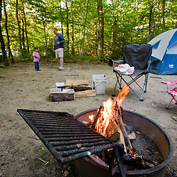 Camping in Crawford Notch State Park in new Hampshire's White Mountains.