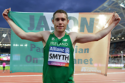 16/07/2017 : Jason Smyth (IRL), Men's 100m, T13, World Champion, at the 2017 World Para Athletics Championships, Olympic Stadium, London, United Kingdom