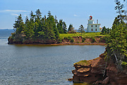 Lighthouse at Fort Amherst National Historic Site, Prince Edward Island, Canada.