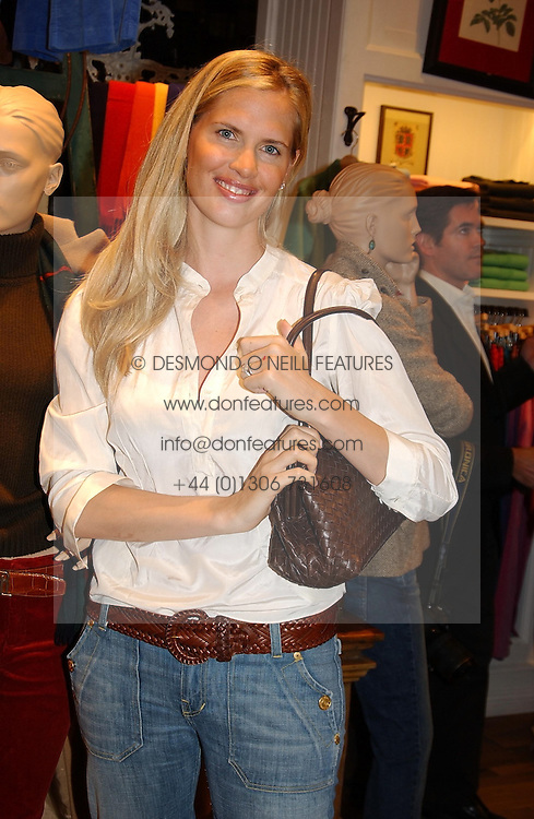 CATHERINE VIALLI wife of football manager Gianluca Vialli at Polo Ralph Lauren's Pink Pony Party to launch it's Pink Pony Collection in aid of Cancer Research UK, held at their Fulham Road Store, London on 13th October 2004.<br />