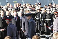 Prince William Remembrance Sunday - Cenotaph Service, Whitehall, London, UK. 13 November 2011. Contact rich@pictured.com +44 07941 079620 (Picture by Richard Goldschmidt)