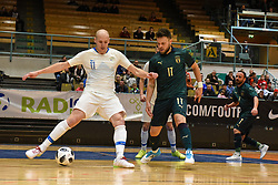 Klemen Duscak of Slovenia during futsal friendly match between National teams of Slovenia and Italy, on December 3, 2019 in Maribor, Slovenia. Photo by Milos Vujinovic / Sportida