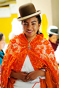 Cholita.Celebrating Bolivian Independence Day.La Paz.Bolivia