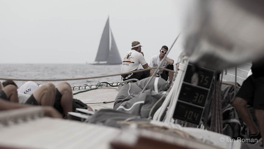 SPAIN, Palma. 18th June 2013. On board J Class Yacht Hanuman.
