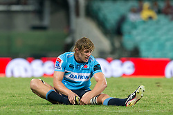 March 23, 2019 - Sydney, NSW, U.S. - SYDNEY, NSW - MARCH 23: Waratahs player Ned Hanigan (6) at round 6 of Super Rugby between NSW Waratahs and Crusaders on March 23, 2019 at The Sydney Cricket Ground, NSW. (Photo by Speed Media/Icon Sportswire) (Credit Image: © Speed Media/Icon SMI via ZUMA Press)