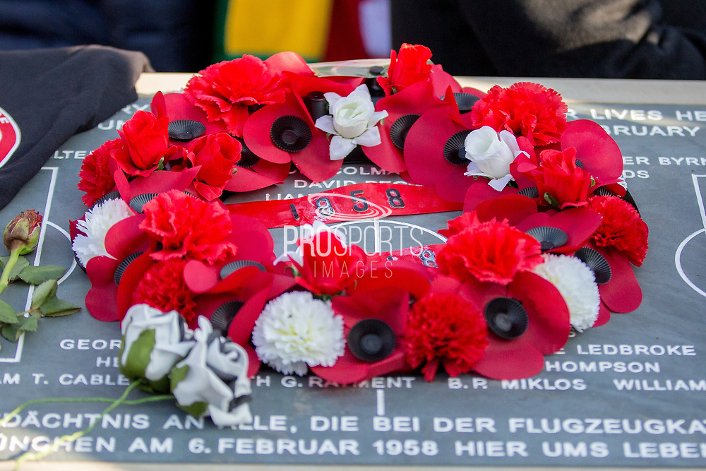 1958 in the wreath during the ceremony at Manchesterplatz, Munich, Germany. Picture by Phil Duncan.