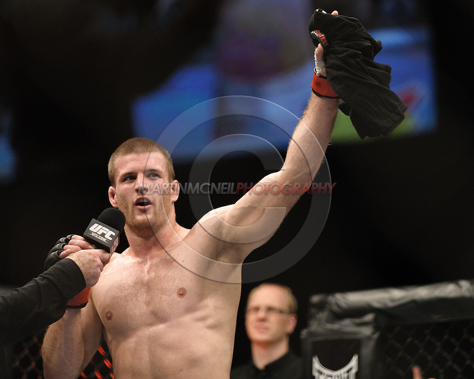 OBERHAUSEN, GERMANY, NOVEMBER 13, 2010: Pascal Krauss during UFC 122 inside the Konig Pilsner Arena in Oberhausen, Germany.