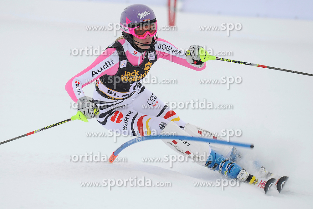 07.12.2012, Engiadina Rennstrecke, St. Moritz, SUI, FIS Ski Alpin Weltcup, Super Combination, Damen, Slalom, im Bild, Maria Hoefl-Riesch (GER), in action // during Slalom of ladies Super Combined of FIS ski alpine world cup at the Engiadina course, St. Moritz, Switzerland on 2012/12/07. EXPA Pictures © 2012, PhotoCredit: EXPA/ Freshfocus/ Urs Lindt..***** ATTENTION - for AUT, SLO, CRO, SRB, BIH only *****