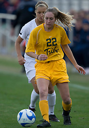 William and Mary midfielder/forward Emily Kittleson (22)..The Virginia Cavaliers defeated the William and Mary Tribe 1-0 in the second round of the NCAA Women's Soccer tournament held at Klockner Stadium in Charlottesville, VA on November 18, 2007.