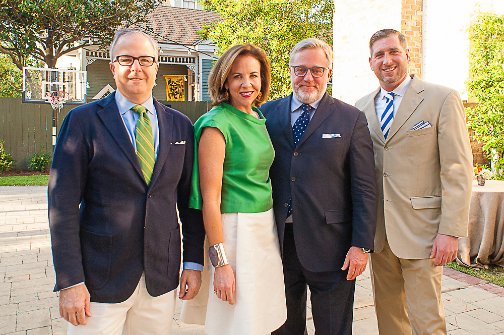 Phillip and Jane Scott Hodges of Leontine Linens with the Hearst group at the House Beautiful Kitchen of the Year Gala in New Orleans on Friday, May 1, 2015. <br /> <br /> #housebeautiful #kitchenoftheyear #nola