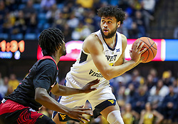 Dec 22, 2018; Morgantown, WV, USA; West Virginia Mountaineers guard Jermaine Haley (10) looks to pass during the second half against the Jacksonville State Gamecocks at WVU Coliseum. Mandatory Credit: Ben Queen-USA TODAY Sports