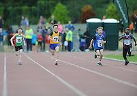 21 Aug 2016: Boys U10 100m Final. 2016 Community Games National Festival 2016.  Athlone Institute of Technology, Athlone, Co. Westmeath. Picture: Caroline Quinn
