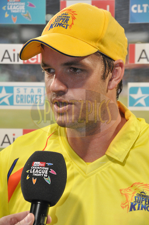 Albie Morkel during match 21 the First Semi Final of the Airtel CLT20 between The Chennai Superkings and The Royal Challengers Bangalore held at Kingsmead Stadium in Durban on the 24 September 2010..Photo by: Geoff Brink/SPORTZPICS/CLT20.