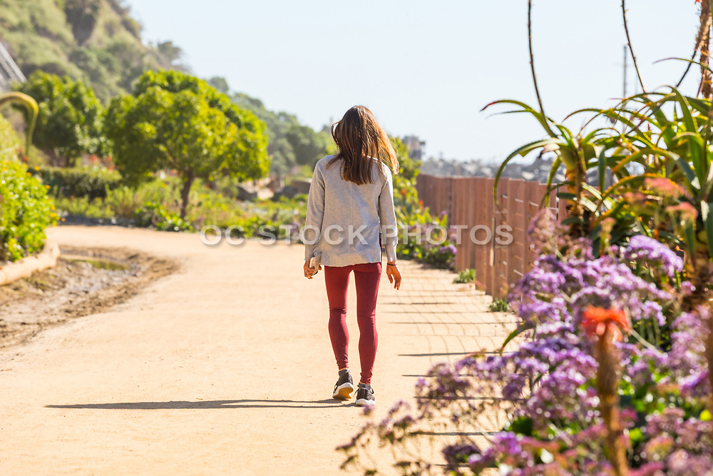 Girl Walking on the San Clemente Beach Trail