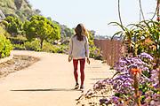 Girl Walking on the San Clemente Beach Trail