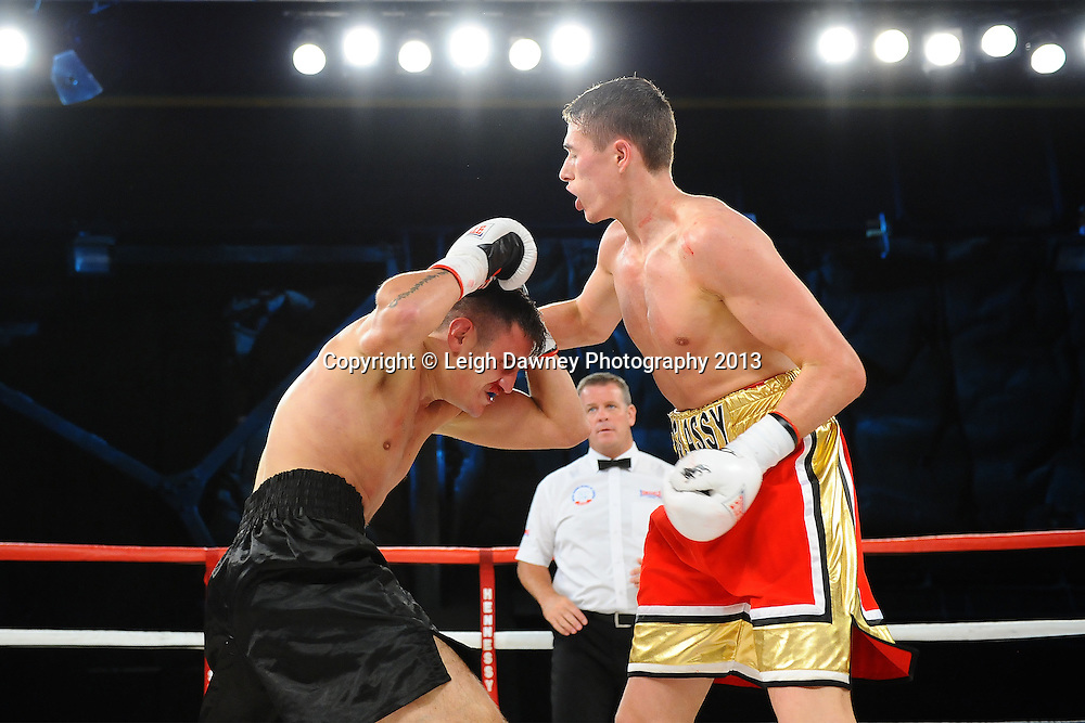Tom McAssey defeats Liam Griffiths on Saturday 14th September 2013 at the Magna Centre, Rotherham. Hennessy Sports. Self billing applies. © Credit: Leigh Dawney Photography.