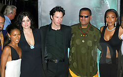 Oct 27, 2003; Los Angeles, California, USA; Matrix Cast JADA PINKETT-SMITH, CARRIE-ANNE MOSS, KEANU REEVES, LAURENCE FISHBURNE & NONA GAYE at the 'Matrix Revolutions' World Premiere held at the Walt Disney Concert Hall..  (Credit Image: Lisa O'Connor/ZUMAPRESS.com)