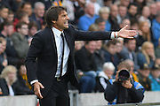 Chelsea manager Antonio Conte during the Premier League match between Hull City and Chelsea at the KCOM Stadium, Kingston upon Hull, England on 1 October 2016. Photo by Ian Lyall.
