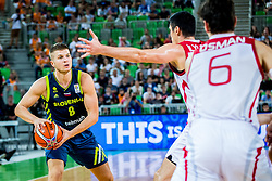 Edo Muric of Slovenia during basketball match between National teams of Slovenia and Turkey in Round #8 of FIBA Basketball World Cup 2019 European Qualifiers, on September 17, 2018 in Arena Stozice, Ljubljana, Slovenia. Photo by Ziga Zupan / Sportida