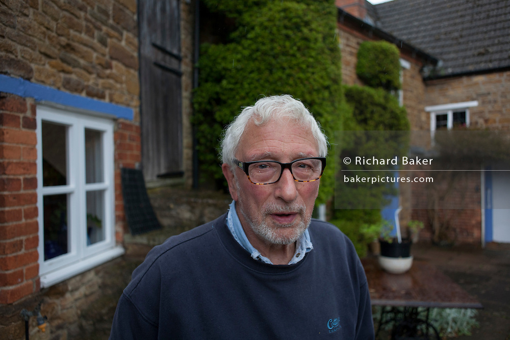 Photographer and former picture editor, Christopher Angeloglou outside his home in Scaldwell, Northamptonshire.