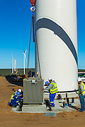 Placement of the substation at the foot of a new wind turbine