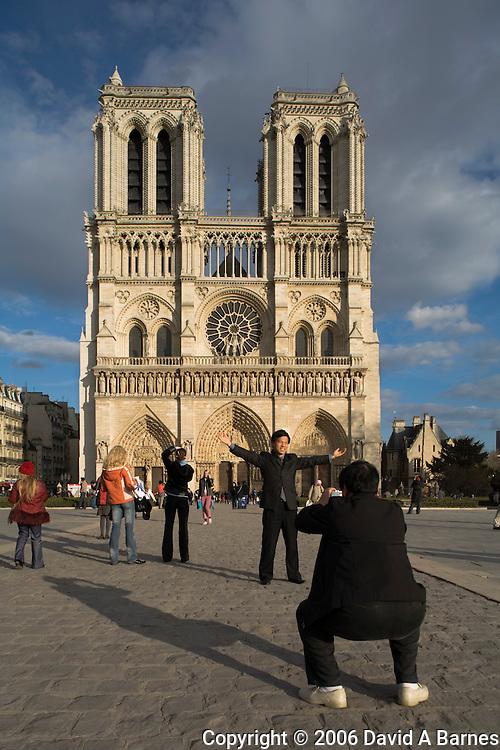 Notre Dame Cathedral, Ile de la Cite, Paris, France.(NO MODEL RELEASE)