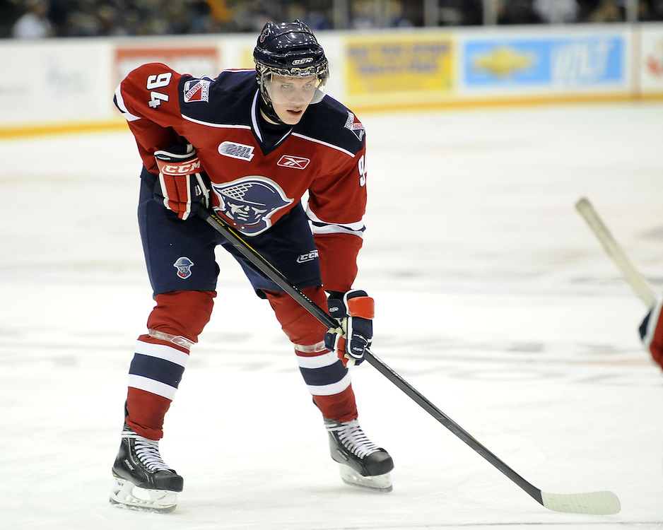 Radek Faksa of the Kitchener Rangers. Photo by Aaron Bell/OHL Images