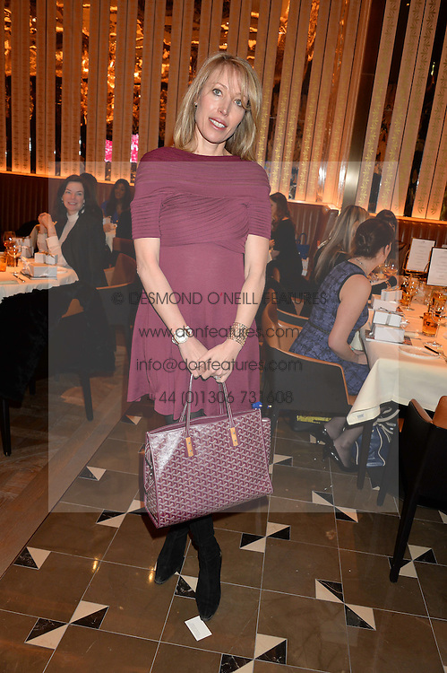 EVA ALEXANDRIDIS at the Cash & Rocket Tour Announcement Launch Lunch in association with McArthur Glen was held at The Grill, The Dorchester, Park Lane, London on 12th March 2015.