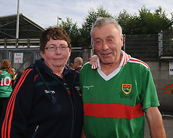 Mary and John Egan originally from Charlestown pictured on their way to McHale Park on saturday evening.<br />