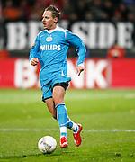 Nederland, Alkmaar, 2 februari 2008.Eredivisie.Seizoen 2007-2008.AZ-PSV (0-2).Balazs Dzsudzsak van PSV in actie met de bal