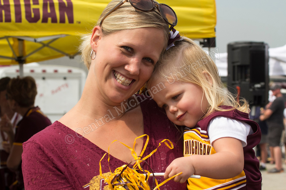 CMU football game day v New Hampshire 2013. Photos by Neil Barris/Central Michigan University