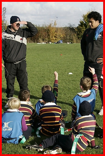 Saracens Master class coaching session at Old albanians RFC