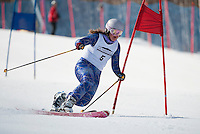 "Sara Godek skis on her ""home turf"" during the Classic race at the US Telemark Championships Friday morning at Gunstock Mountain Resort.    (Karen Bobotas/for the Laconia Daily Sun)"