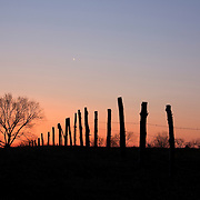 Sunset fades to twilight along Loudoun County Parkway in Ashburn, VA