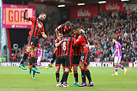 Football - 2016 / 2017 Premier League - AFC Bournemouth vs. Hull City<br /> <br /> Bournemouth teammates mob Bournemouth's Dan Gosling the scorer of the sixth goal at Dean Court (The Vitality Stadium) Bournemouth<br /> <br /> Colorsport/Shaun Boggust