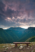 August sunset in Balkan Mountains